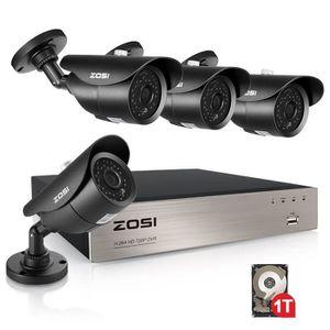 CAMÉRA DE SURVEILLANCE ZOSI 8CH 1080N 720p Hybride 4in1 DVR Enregistreur