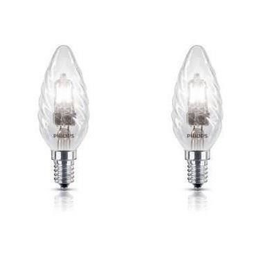 PHILIPS Flamme Lot de 2 Ampoules Halogène 42W E14