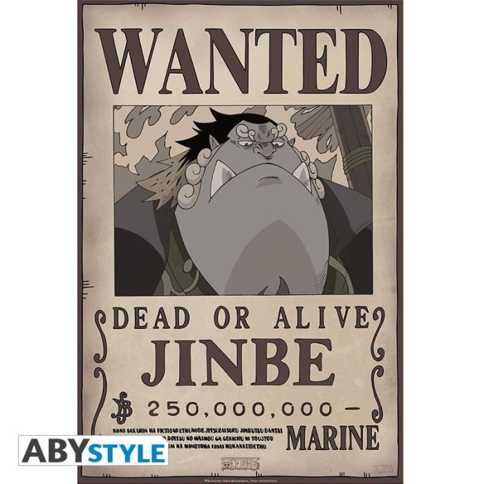 One Piece - Poster Wanted jinbe 52x35