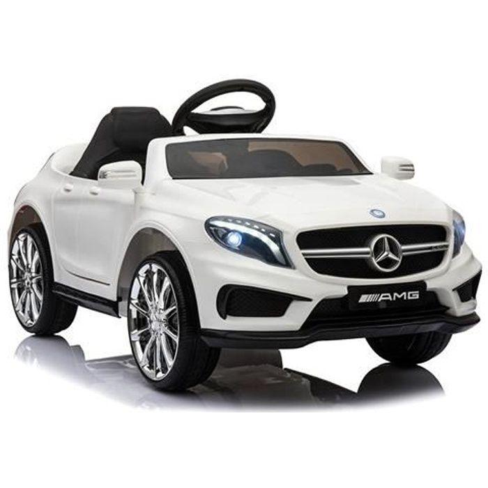 Mercedes GLA Télécommande Blanc - Voiture électrique pour enfant avec batterie 12v et télécommande