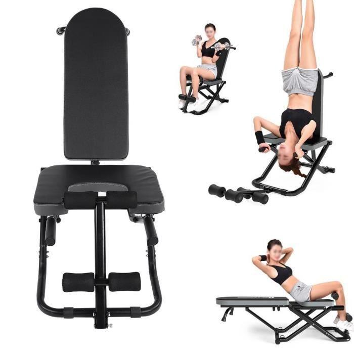 Banc de musculation Chaise multifonctionnelle table d'inversion yoga forme physique fitness à la maison se pliant résistant-CWU