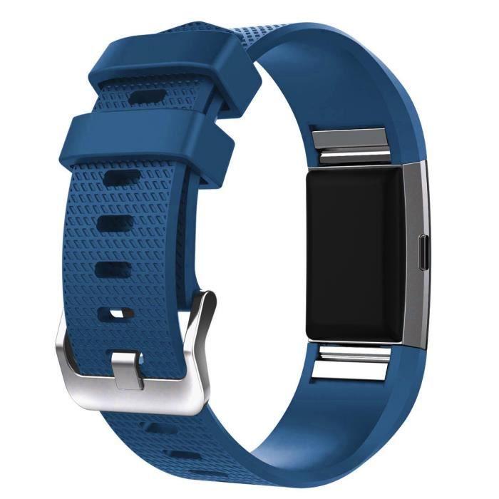 BRACELET DE MONTRE VENDU SEUL Nouvelle Bande De Sangle Bracelet En Silicone Sport Mode Pour Fitbit Charge 2 Lbb60922722Bu