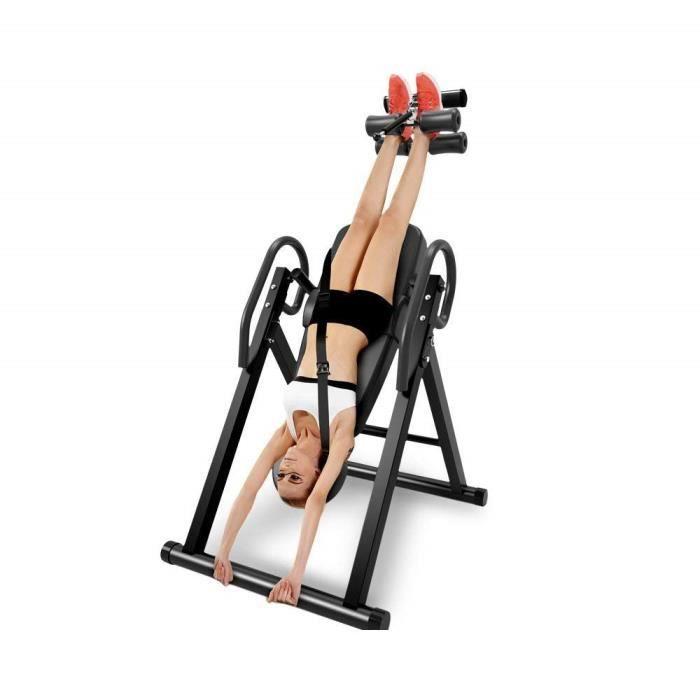 NOUVEAU Table d'Inversion Pliable Musculation Appareil du Dos Bras Sport Exercice