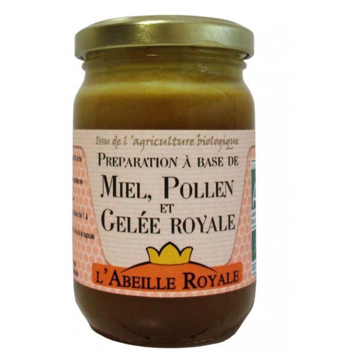 Abeille royale - Préparation à base de miel, pollen, gelée royale 250gr