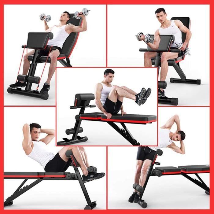 Banc de Musculation Pliable- Banc de Musculation- Banc de Musculation - Multifonction - Antidérapant - pour entraînement du Ven[189]