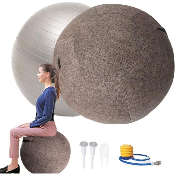 POIUYT Siege Ballon Ergonomique Bureau 55-65-75cm pour Swiss Ball Grossesse, ?Ballon de Gym La Maison Ballon Assise Bureau, Le P56