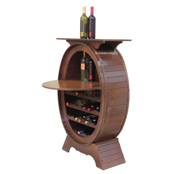 Meuble range bouteilles mini-bar en bois
