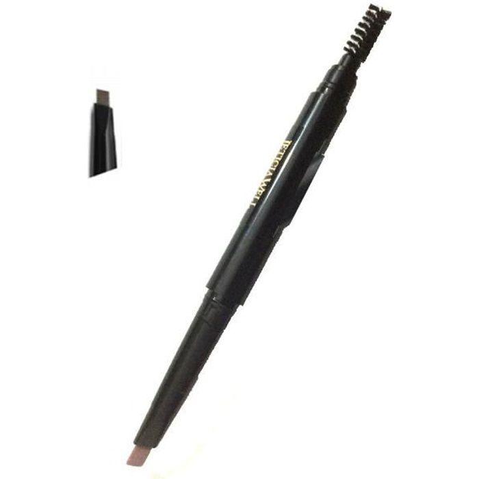 Leticia Well Crayon sourcils N°3 Marron foncé double embouts ( crayon & goupillon)