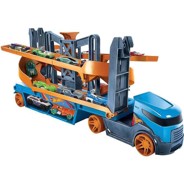 VEHICULE MINIATURE ASSEMBLE ENGIN TERRESTRE MINIATURE ASSEMBLE Hot Wheels City Ascenseur et Lanceur Camion Transporteur pour c100