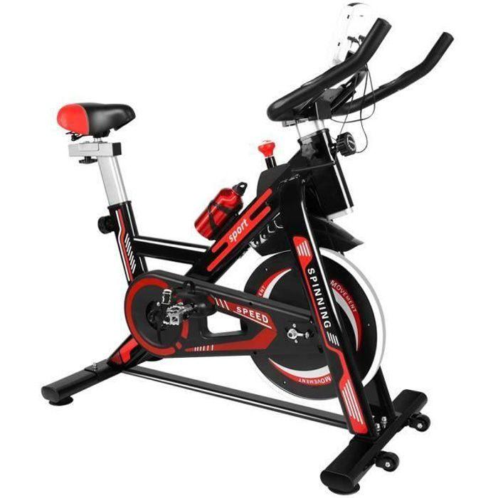 {Hosd Cheu} Vélo d'appartement - Résistance réglables - d'Intérieur Cardio - Noir et Rouge