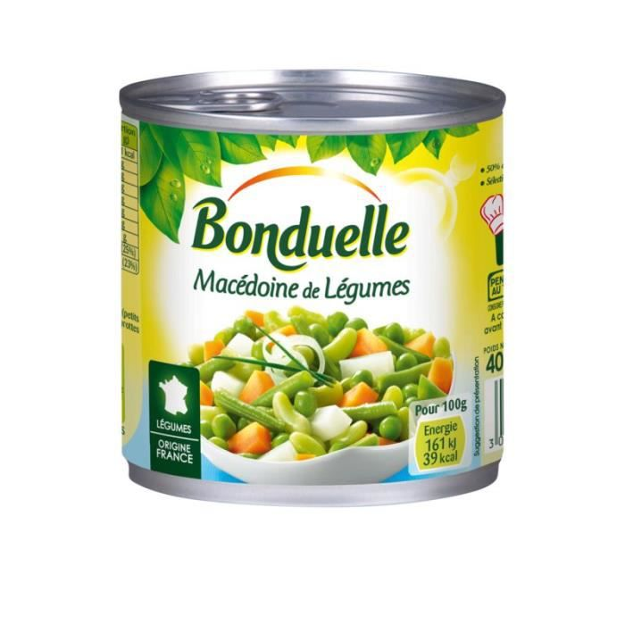 Macédoine de légumes 400 g Bonduelle