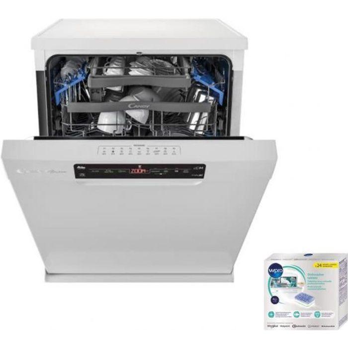 CANDY Lave-vaisselle posable Blanc 43dB Classe 15 couverts 60 cm Départ différé