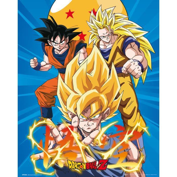 Affiche mini Dragon Ball Z 3 Gokus