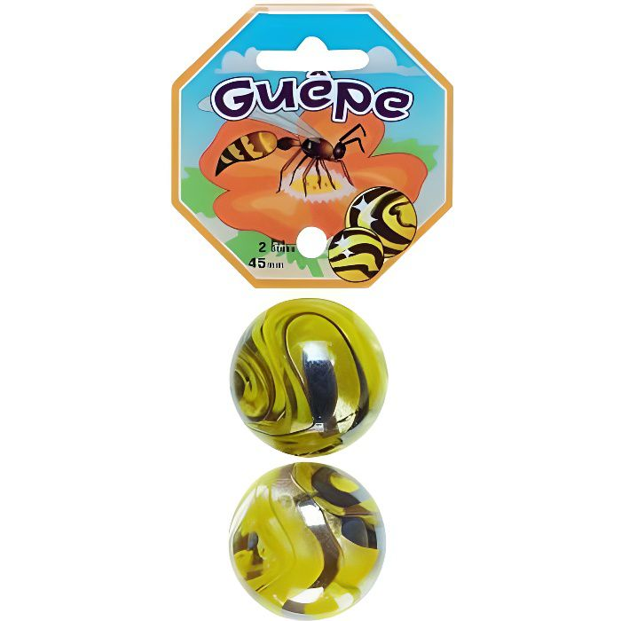 Filet De 2 Boulards / Calots Guepe 4.5Cm - Bille Jeu De Recreation