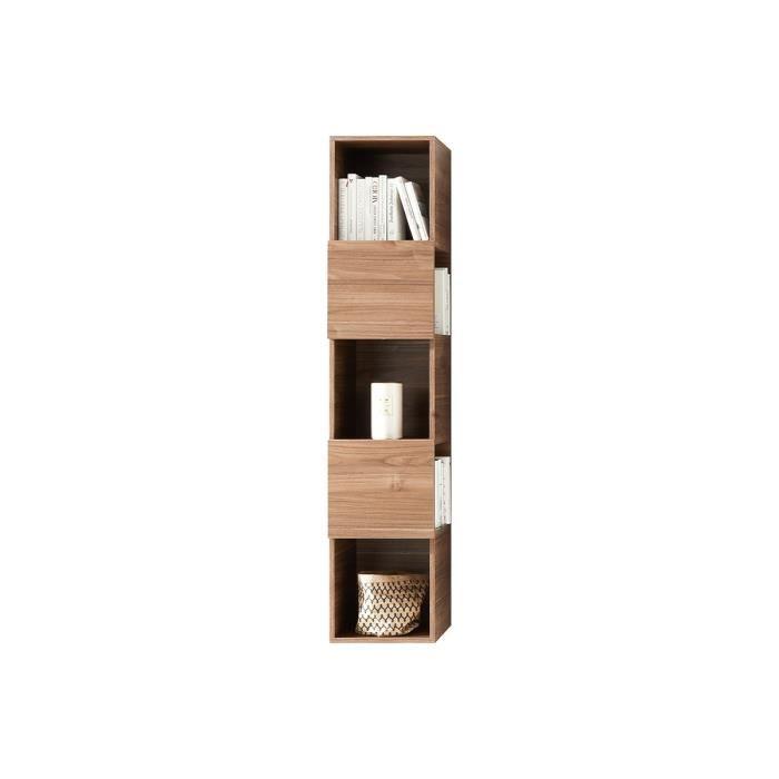 Miliboo - Etagère murale verticale 5 rangements finition bois clair ETERNEL