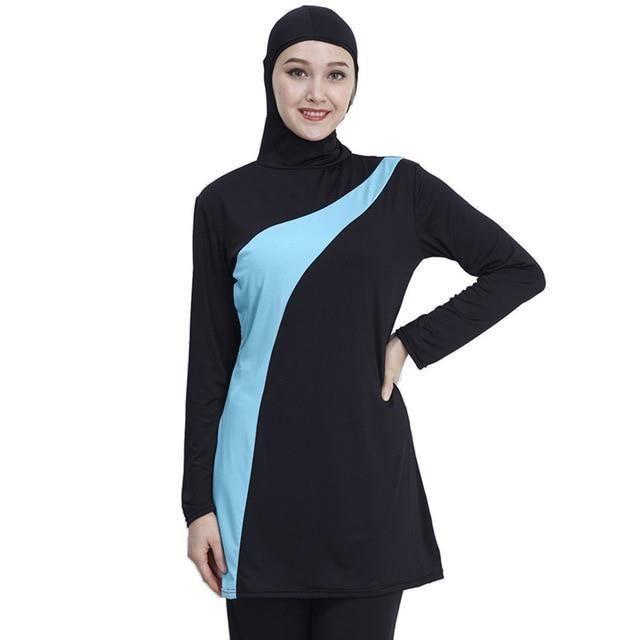 Zencart 2019 Manches Longues Musulman Maillot De Bain Grande Taille Maillots De Bain Femmes Maillot De Bain Musulman Nylon Burkini M