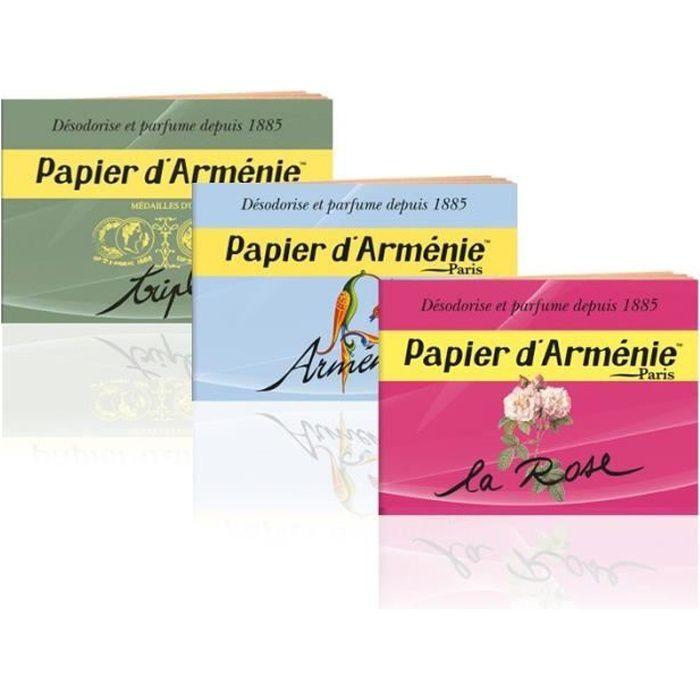 Offre Papier d'Arménie - Les 3 Carnets triple Année + Rose + Classique