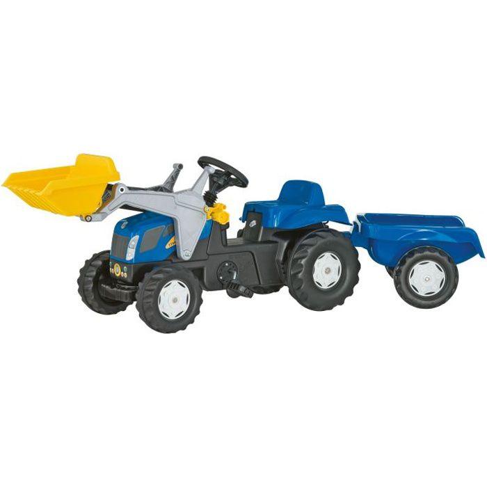Tracteur à pédales NEW HOLLAND TVT 190 avec charg…