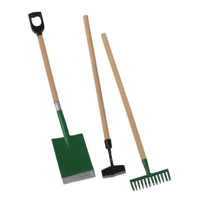 3pcs mini outils de jardin mis drôle scène de accessoires modèle jouets éducatifs tôt pour enfants pour JEU D'ADRESSE