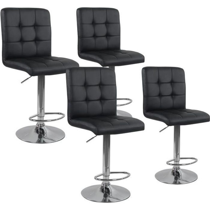 lot de 4 tabourets de bar max noir achat vente. Black Bedroom Furniture Sets. Home Design Ideas