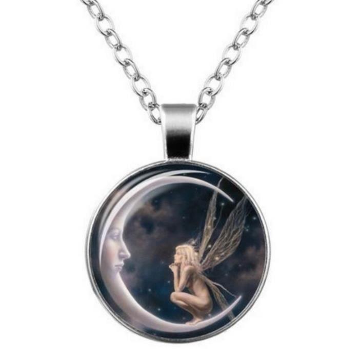 collier lune et fée