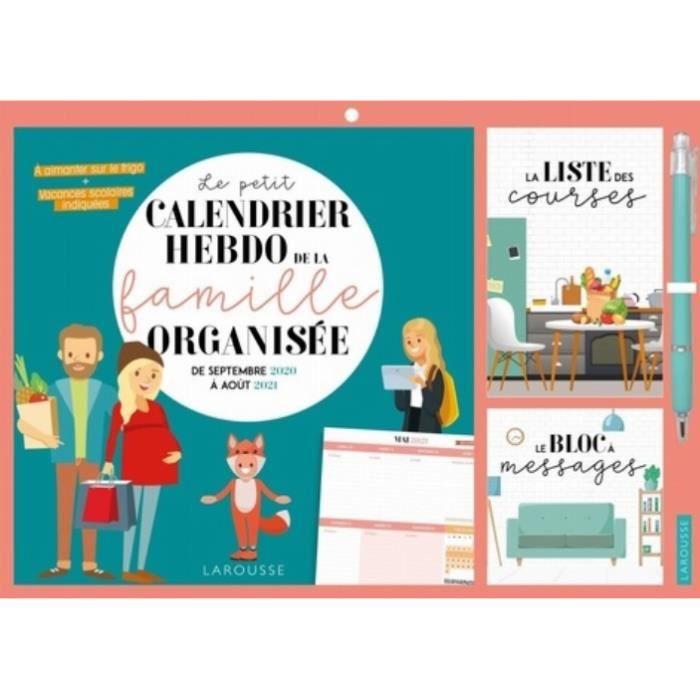 Calendrier Photo 2021 Pas Cher Le petit calendrier hebdo de la famille organisée. Edition 2020