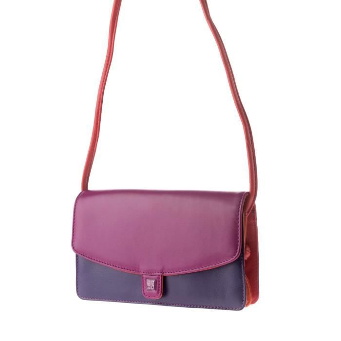 Dudu - Sac porté épaule - Collection Colorful - Sherbro - Rose fuchsia - femme