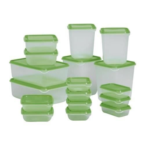 Ikea Pruta Lot De 17 Boites De Conservation En Plastique Achat