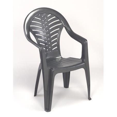 achat chaise de jardin plastique gris