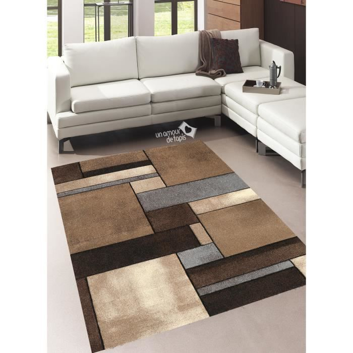 tapis de salon brillance geometrique beige 120x170 tapis moderne achat vente tapis cdiscount. Black Bedroom Furniture Sets. Home Design Ideas