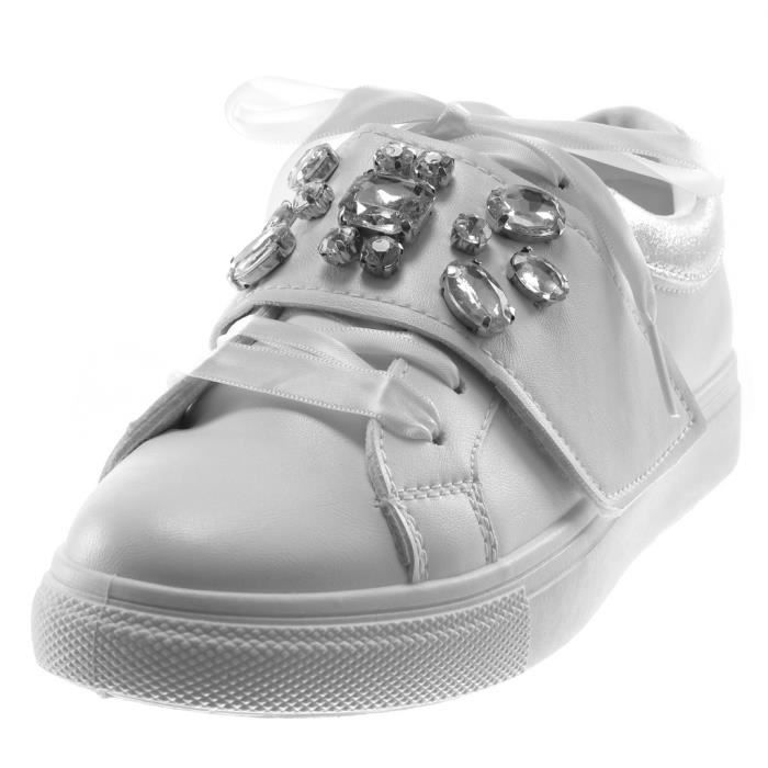 Lacet Femme Diamant AngkorlyChaussure Plat Mode Satin Sporty 3 Scratch T Rose Talon Chic Strass Ruban Cm Tennis R199 Baskets erCBxodW
