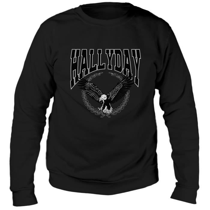 Sweat Aigle Johnny Hallyday - Homme - Noir