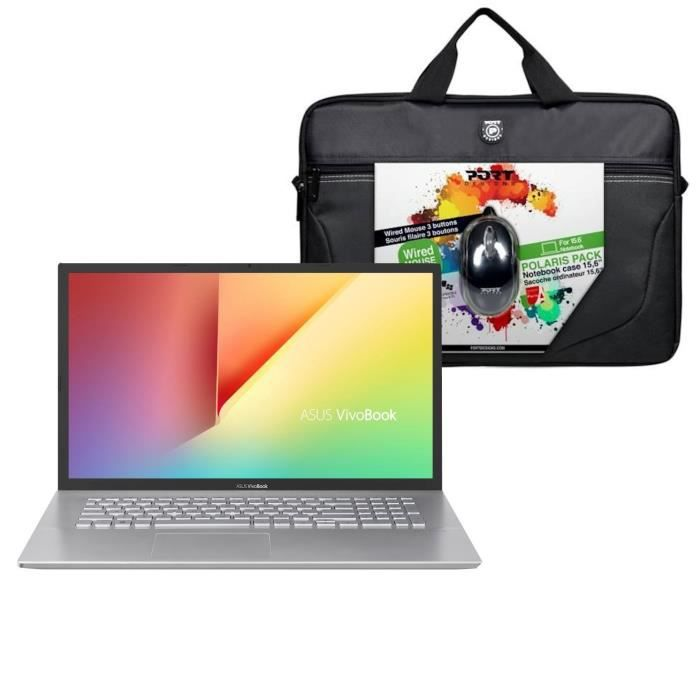 "Pack ASUS PC portable Vivobook S S712DA-BX392T 17"" HD+ - Ryz 3-3200U - RAM 8Go - Stockage 1To +"