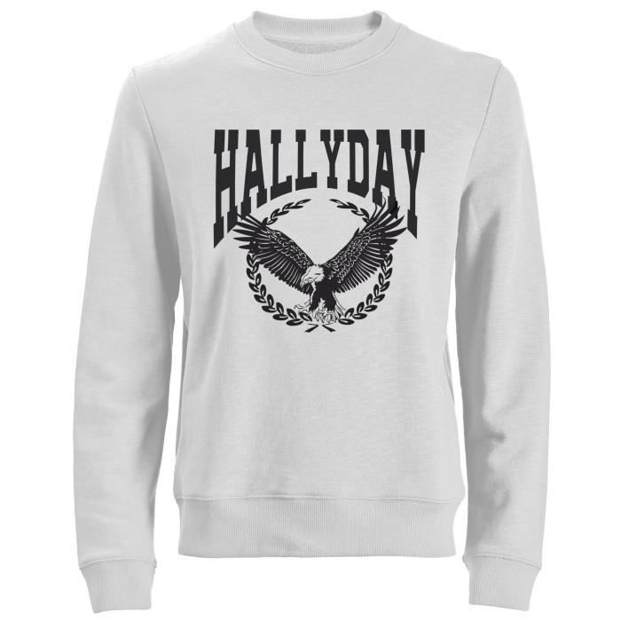 Sweat Aigle Johnny Hallyday - Homme - Blanc