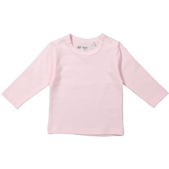 Set de 2 t-shirts manches courtes en coton b/éb/é fille
