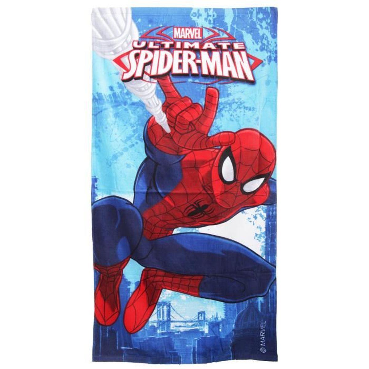 70 x 140 cm Couleur Unie St.Ioannidis/&Son Spiderman 5 Serviette de Plage 100/% Microfibre