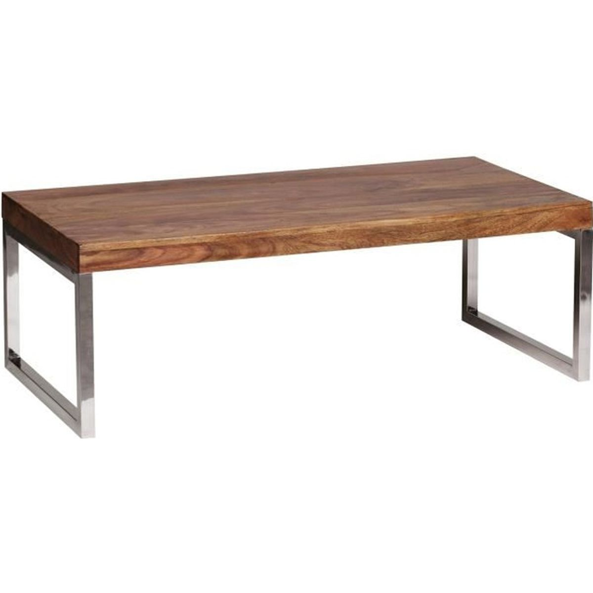 WOHNLING table basse en bois massif Sheesham 7cm de large salon