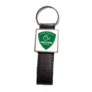 PORTE-CLÉS Porte-clés acier/simili cuir Rugby Section Paloise