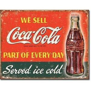 plaque metal coca cola achat vente plaque metal coca cola pas cher cdiscount. Black Bedroom Furniture Sets. Home Design Ideas