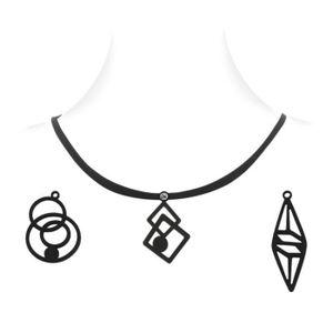 PENDENTIF VENDU SEUL Coffret Design Collier Femme - 3 Pendentifs en Sil