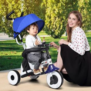 Tricycle COSTWAY 4 en 1 Tricycle,Vélo Evolutif Pliable pour