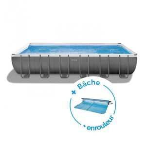 BÂCHE - COUVERTURE  Pack Piscine tubulaire Intex Ultra Frame 7.32 x 3.
