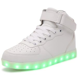 BASKET Chaussures LED Enfant Lumineuse USB Charge Chaussu