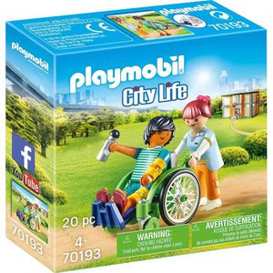 UNIVERS MINIATURE PLAYMOBIL 70193 - City Life L'Hôpital - Patient en