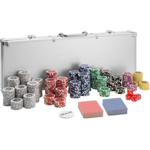 MALETTE POKER TECTAKE Coffret, Malette, Set de Poker 500 Jetons