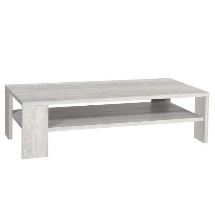 TABLE BASSE LATHI Table basse 130x65 cm gris clair