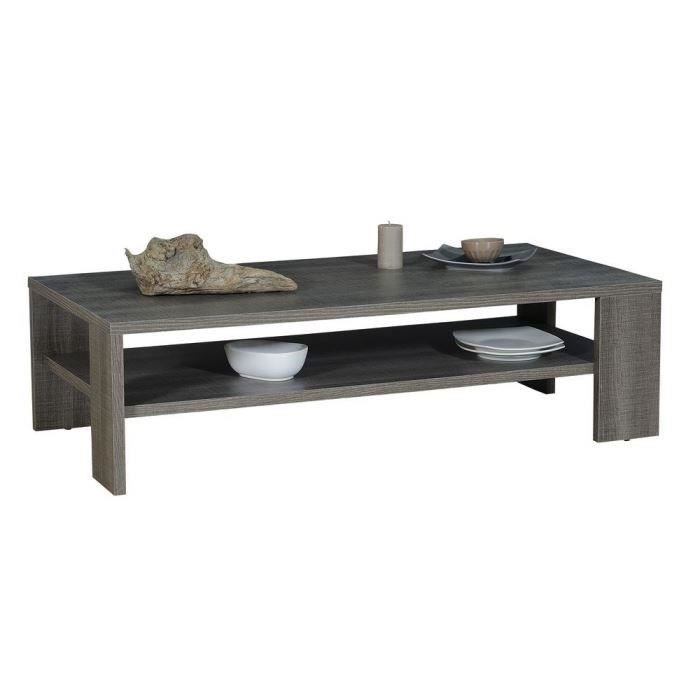 Biarritz table basse 130x65cm bois gris achat vente table basse biarritz - Table basse bois gris ...