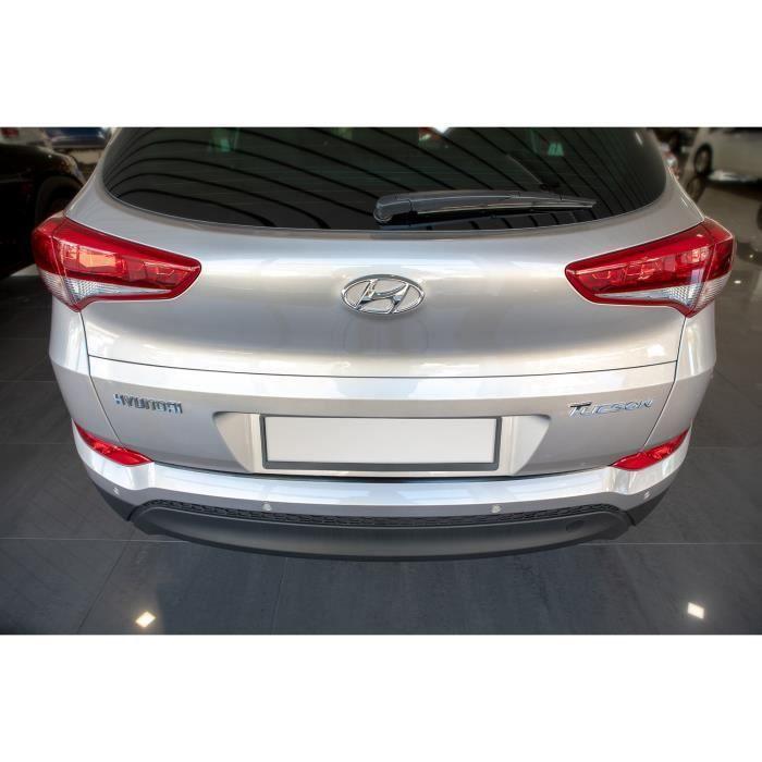 Protection de seuil de coffre chargement en acier Hyundai Tucson II 2015-2018