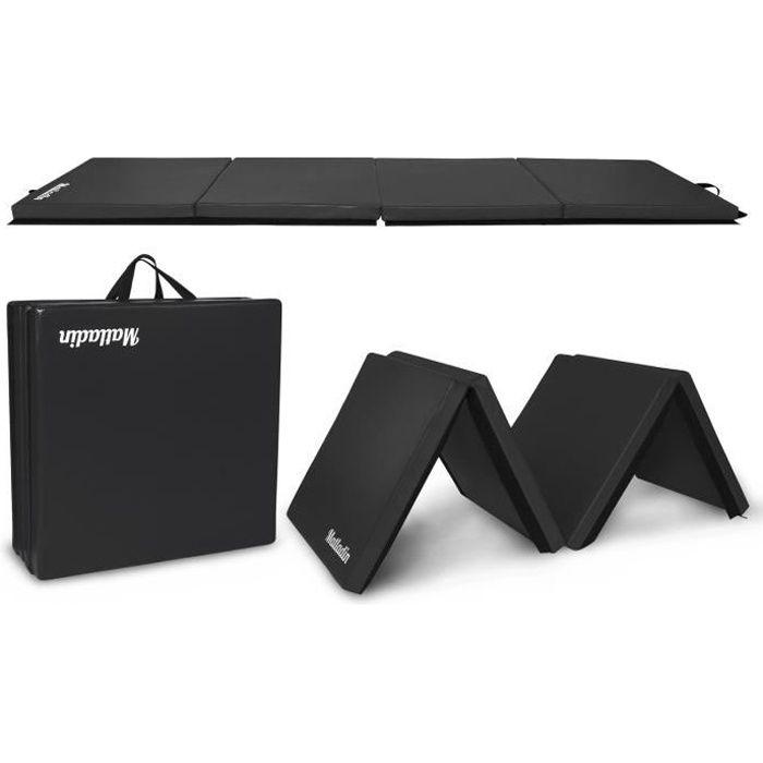 Tapis de gymnastique pliable Tapis de Sol 240 x 60 x 5 cm, Matelas de Gym Épais et Pliable pour la Maison