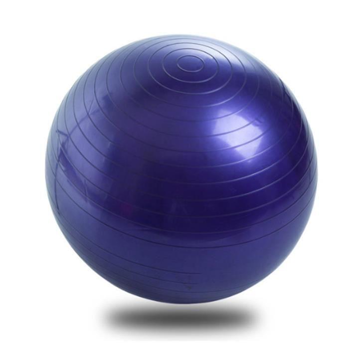 Ballon de Gymnastique Ballon Fitness Yoga Balle d'Exercice Antidérapant Balle Gymnastique avec Pompe, 65cm,Violet